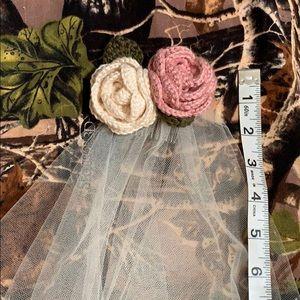 Handmade ivory tulle wedding veil